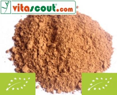 BIO Kakaopulver - 200g - PREMIUMQUALITÄT - roh - ungeröstet - stark entölt - ¤ 2,19 je 100g