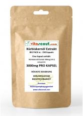 250 Kapseln Kürbiskernöl Extrakt 2000mg (aus 200mg Extrakt 10:1) - HOCHDOSIERT! - PN: 10242