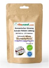 250 Vegi-Tabletten Koreanischer Ginseng - PANAX Extrakt - 1300mg - HOCHDOSIERT - PN: 010257