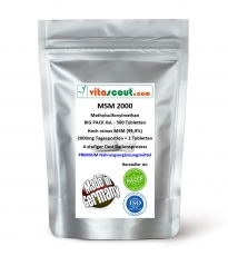 MSM - 1000mg - 500 Tabletten vegan - PN: 01051222