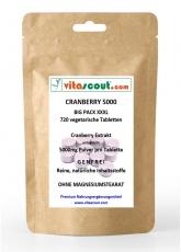 720 veget. Tabletten Cranberry 5000 - OHNE MAGNESIUMSTEARAT - BESTER PREIS IM NETZ