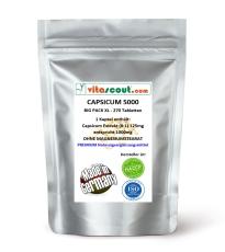 250 Kapseln Capsicum 5000 Diät Chili Fatburner Bauch Beine Po abnehmen - Thermogenese