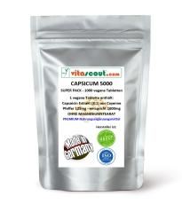 180 Kapseln Capsicum 5000 Diät Chili Fatburner Bauch Beine Po abnehmen - Thermogenese