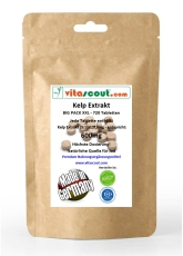 180 Kapseln Kelp Extrakt 600 - enthält ca 900 mcg Jod - HOCHDOSIERT - PN: 010141