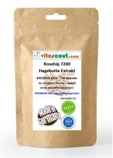 Rosehip / Hagebutte Extrakt 6000 - 500 Kapseln - OHNE MAGNESIUMSTEARAT