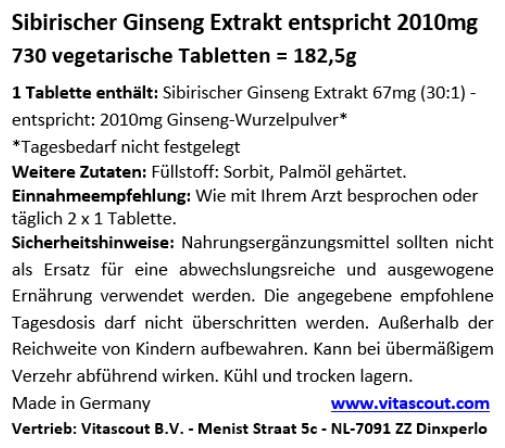 Der Verbrauch des Ginsengs für die Potenz
