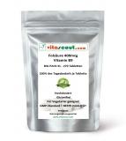 Folsäure 270 Tabletten je 400mcg - Folic Acid - Vitamin B9 - 200% des Tagesbedarfs je Tabl.