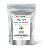 Folsäure 1080 Tabletten je 400mcg - Folic Acid - Vitamin B9 - 200% des Tagesbedarfs je Tabl.
