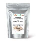 270 Tabletten Ginkgo biloba + Panax Koreanischer Ginseng Mix 4000mg - PN: 0102328 - vegetarisch